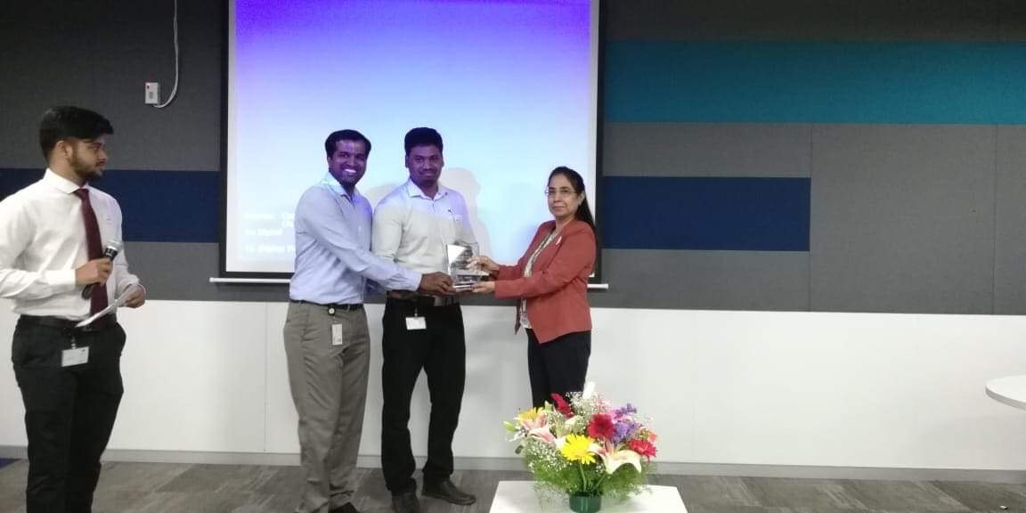 Best Innovation Project Award on CoP-2019 at Schneider Electric