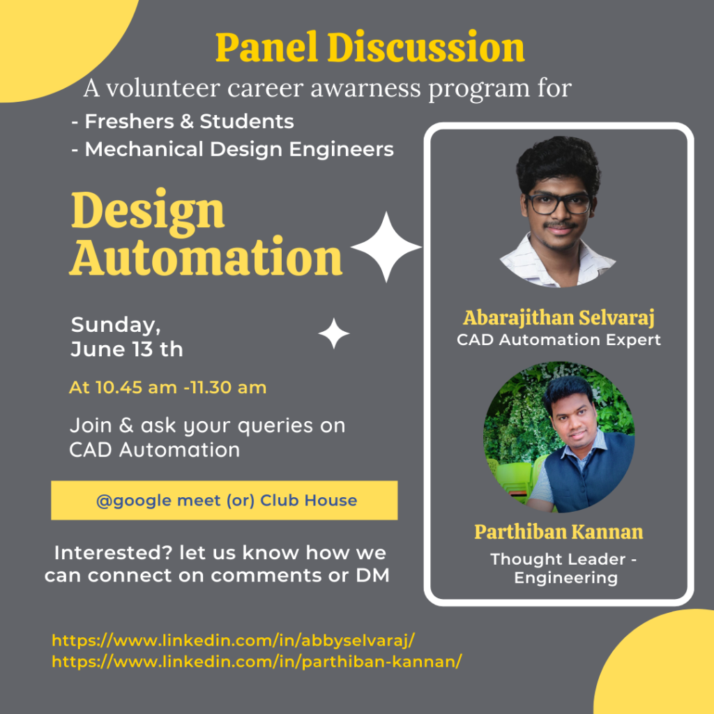 Panel Discussion CAD Automation